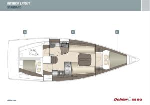 Dehler 38SQ int layout standard